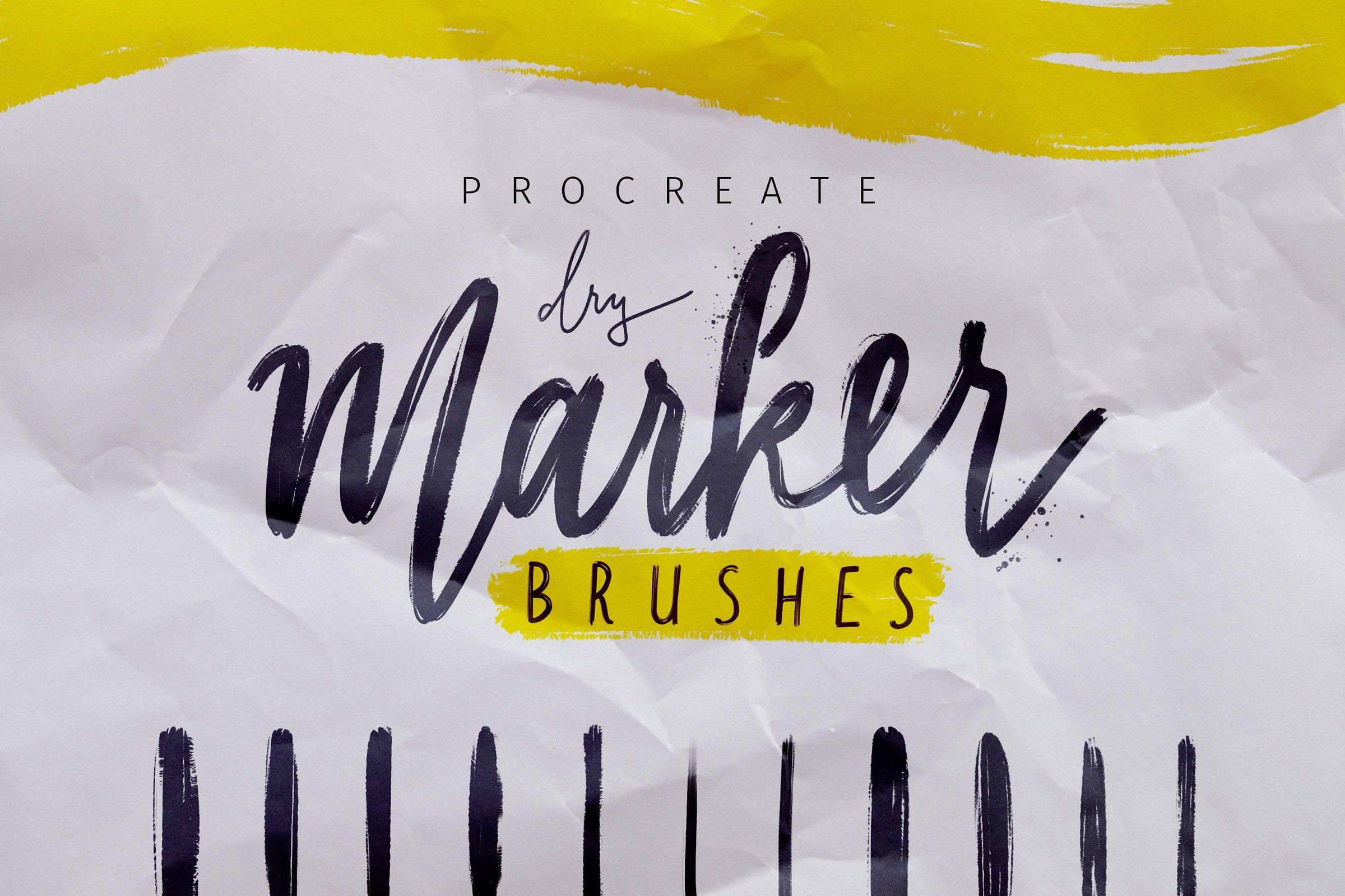Procreate Dry Marker Brushes With Images Procreate Lettering