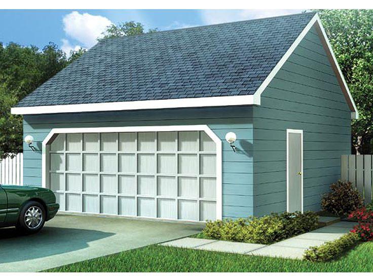 TwoCar Garage Plan, 047G0005 Garage plans, Diy garage
