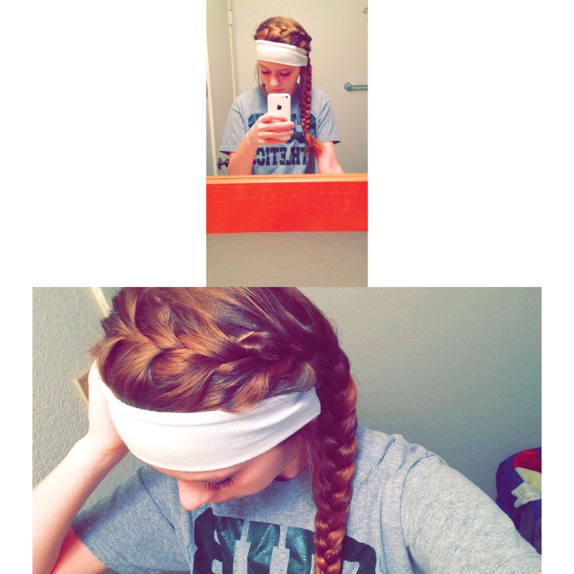 How i wore my hair for the last basketball game for me