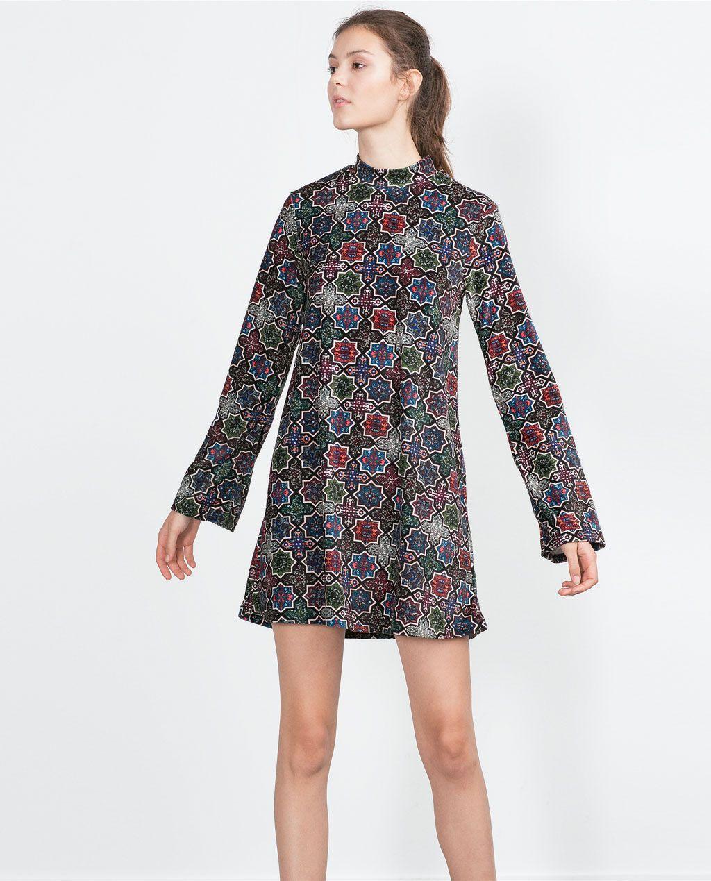 VELVET DRESS-View all-Dresses-WOMAN | ZARA United States ...