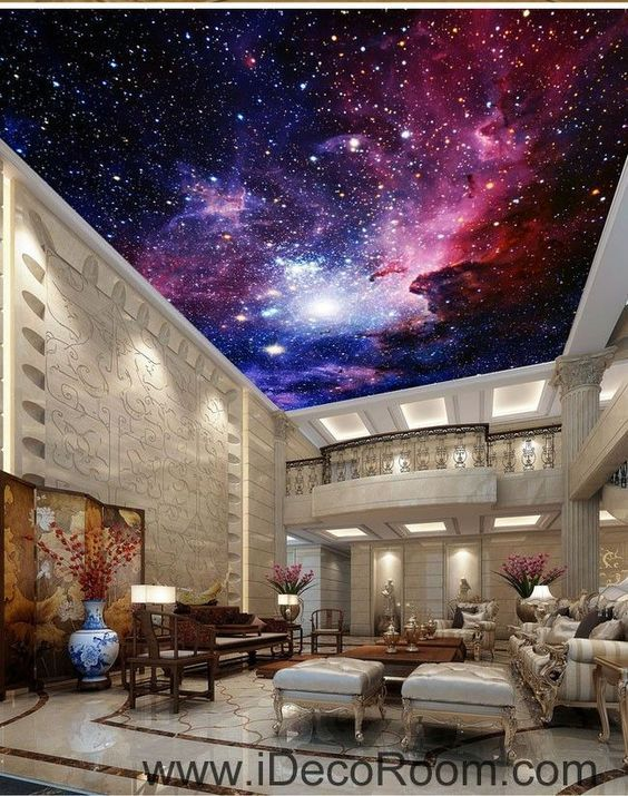 Galaxy Nubela Outerspace 00081 Ceiling Wall Mural Wall Paper Decal Wall Art Print Decor Kids Wallpaper Ceiling Murals Ceiling Design Wallpaper Ceiling