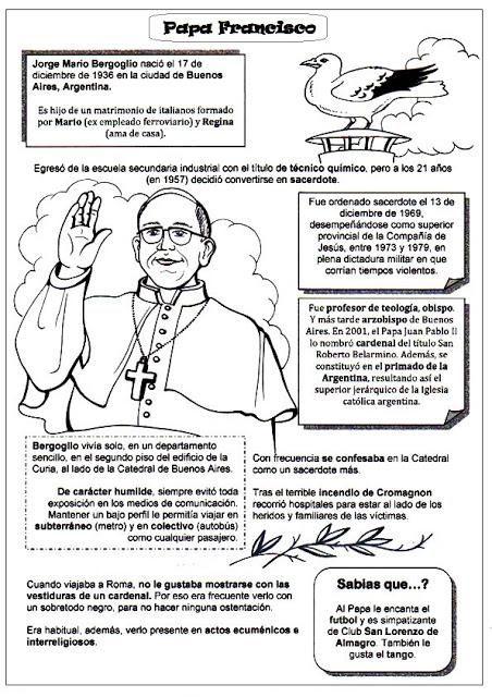 Biografía Papa Francisco Para Niños Paperblog Educación Religiosa Biografía Del Papa Francisco Papa Francisco