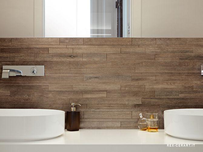 Houten tegel badkamer   Bathrooms / Powder Rooms   Pinterest   White ...