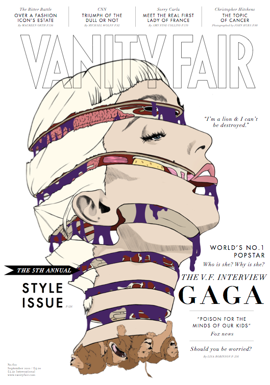 Vanity Fair cover by Priya Chauhan, via Behance