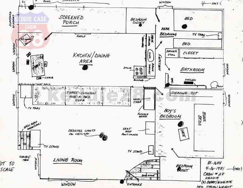 Layout Of Cabin 28 As Drawn By A Member Of Le At The Time Of