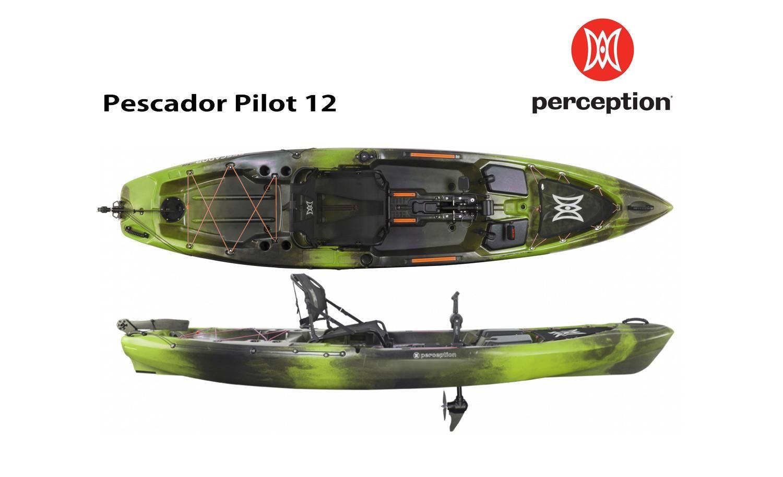 Perception Pescador Pilot 12 Kayak, Pagaie, Pilot