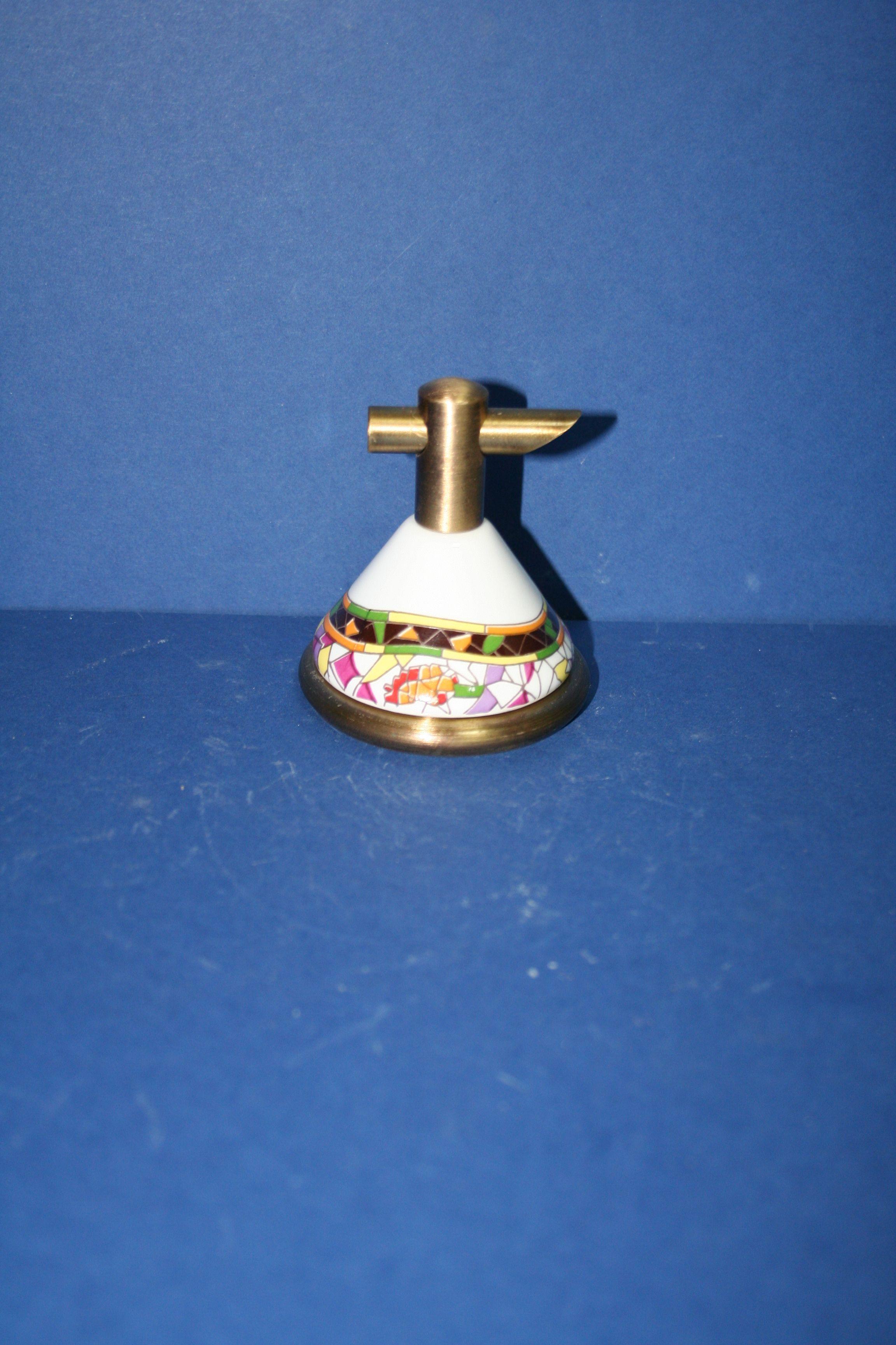 percha para baño en latón y porcelana   Accesbaño ...