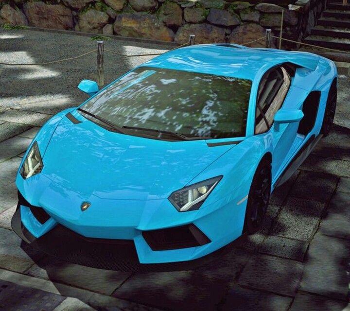 Lamborghini Blue Cute Cars Super Cars Fancy Cars