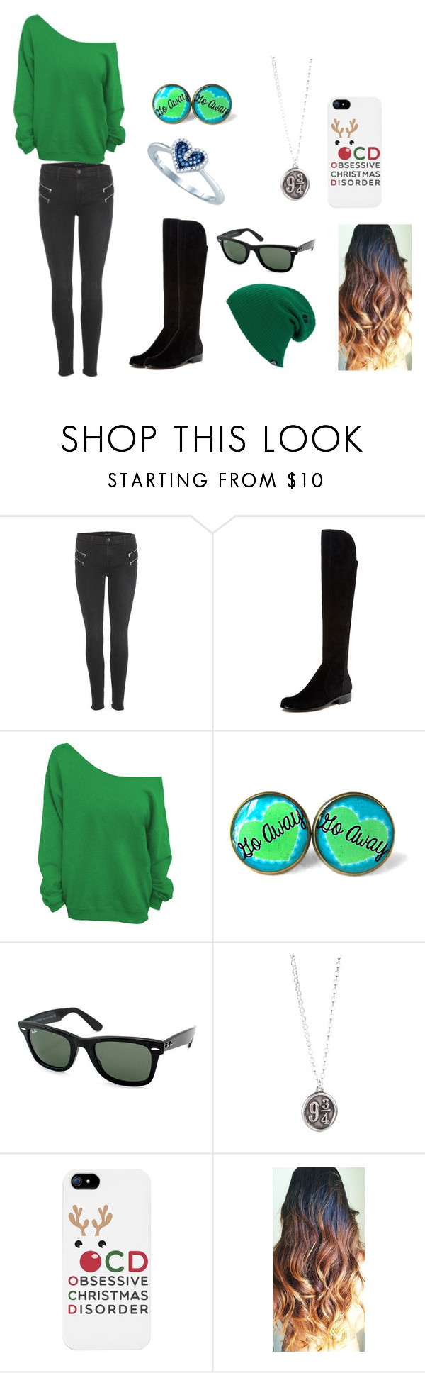"""""""Angie's Oufit"""" by mickey-mech2394 ❤ liked on Polyvore featuring J Brand, Renvy, Ray-Ban and LG"""