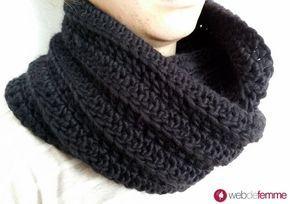 Tuto Snood Col Facile Au Crochet Tricot Crochet Tuto