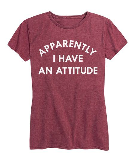 Instant Message Womens Heather Wine Apparently I Have An