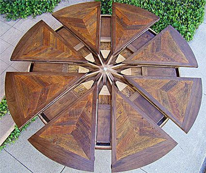 Expanding Round Table   Western Heritage Furniture   Tim From Ellenu0027s  Design Challenge