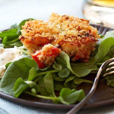Crab Cakes with Orange Aioli @keyingredient #seafood #bread