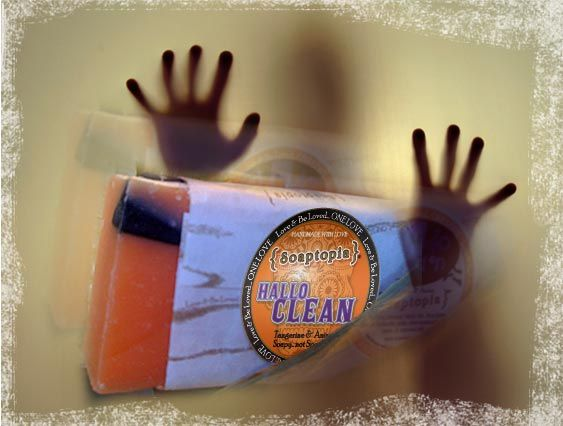 Hallowclean: Halloween soap with tangerine and anise.