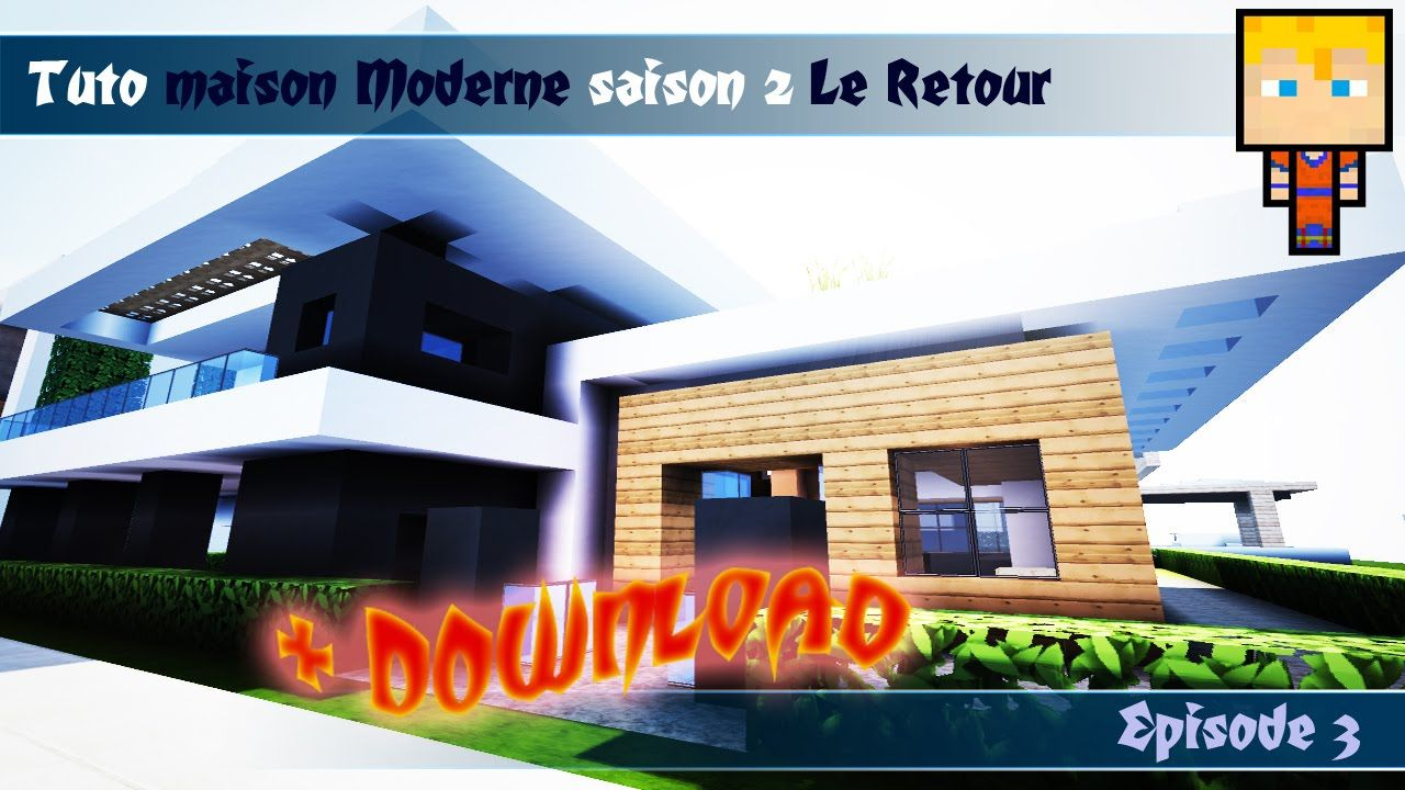Blueprints Minecraft Tuto Modern House Building Design Ideas Modern House Phantomminecraft Walkingpoints Org