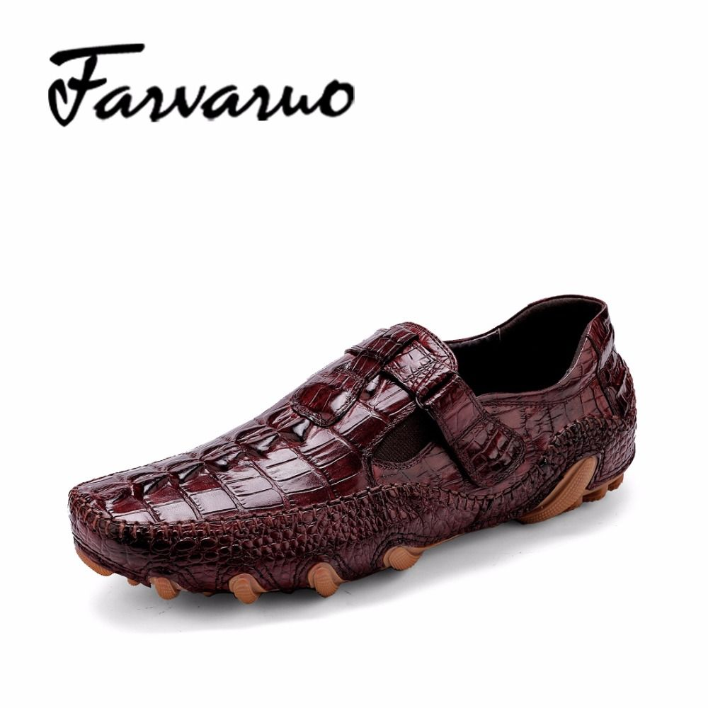 Footwear · Brand New Men's Octopus Cow Leather Driving Shoes Crocodile Slip  On Loafers For Mens Casual Shoe