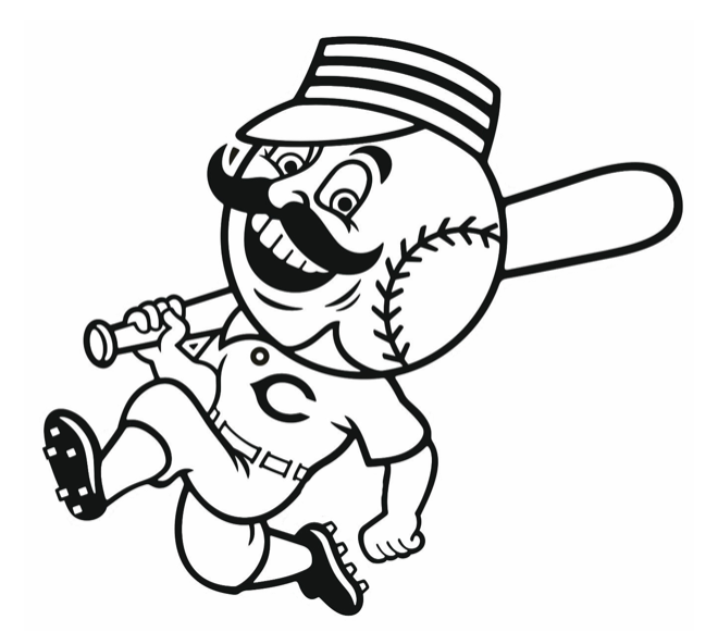 Mr Redlegs Coloring Page Greeneville Reds Minor League Baseball