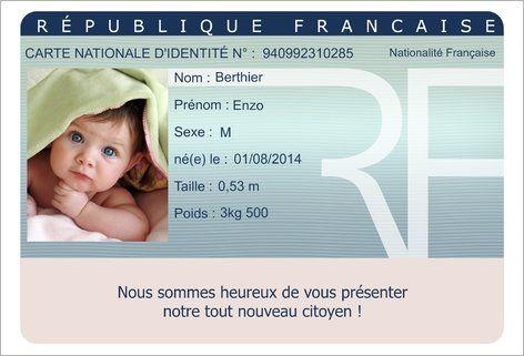 Faire Part De Naissance Facon Carte D Identite Avec Photo A