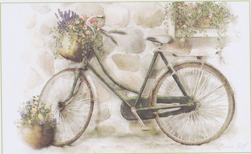 Открытки ретро велосипеды, новый год