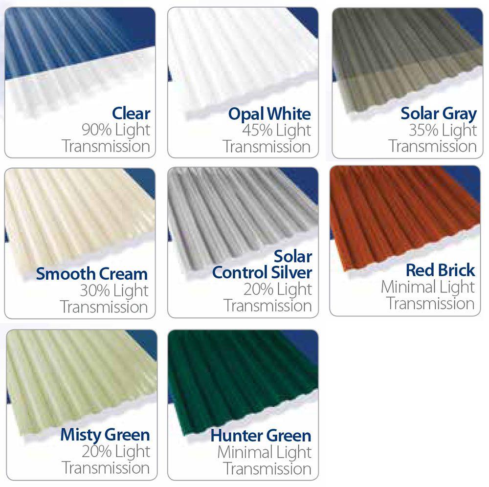 Suntuf Solar Gray Corrugated Polycarbonate Plastic Sheet Suntuf Solar Gray 0 032 X 26 X 96 Corrugated Plastic Roofing Plastic Roofing Corrugated Roofing