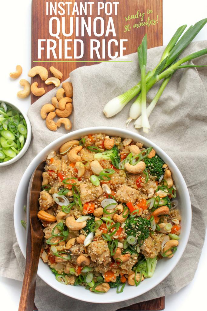 Instant Pot Quinoa Fried Rice Recipe Easy Healthy Instant Pot Recipe Recipe Easy Rice Recipes Instant Pot Quinoa Instant Pot Dinner Recipes