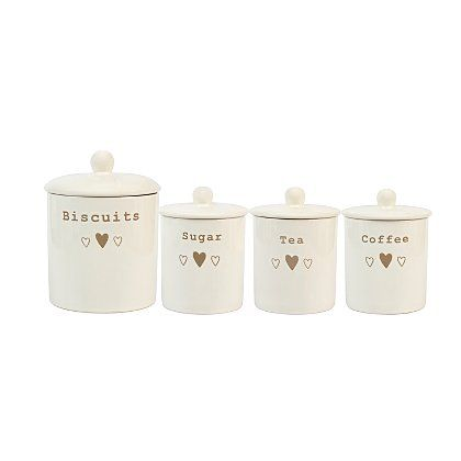 George Home Heart Canister Set Home Home Canister Sets Kitchen