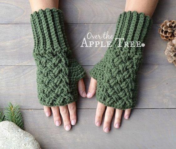 Celtic Weave Fingerless Gloves Pattern By Over The Apple Tree