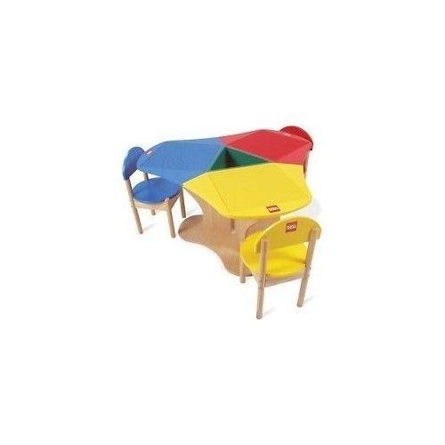 Kids Play table LEGO 3 Hardwood Chair Preschool Children Toddler ...