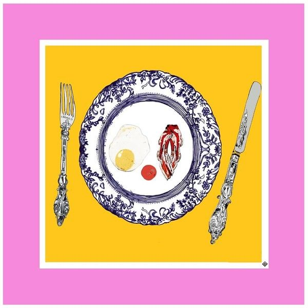 Jessica Russell Flint - The Egg & Bacon Plate Limited Edition Signed ...