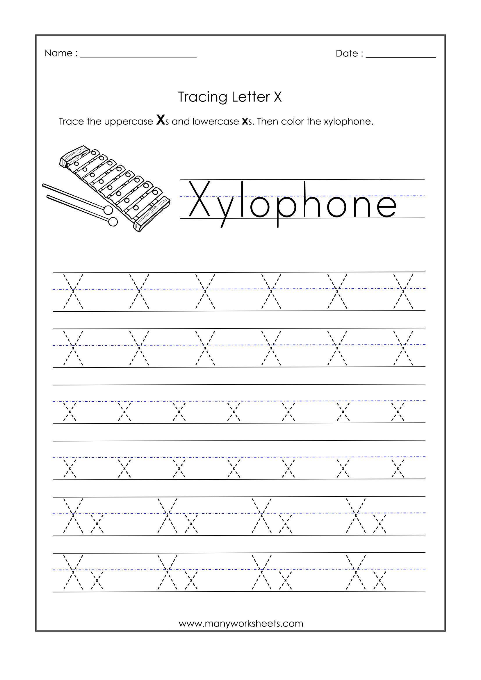 Letter X Worksheets For Kindergarten Letter X Worksheets For Kindergarten Trace Dotted In 2020 Kindergarten Worksheets Preschool Worksheets Letter Tracing Worksheets