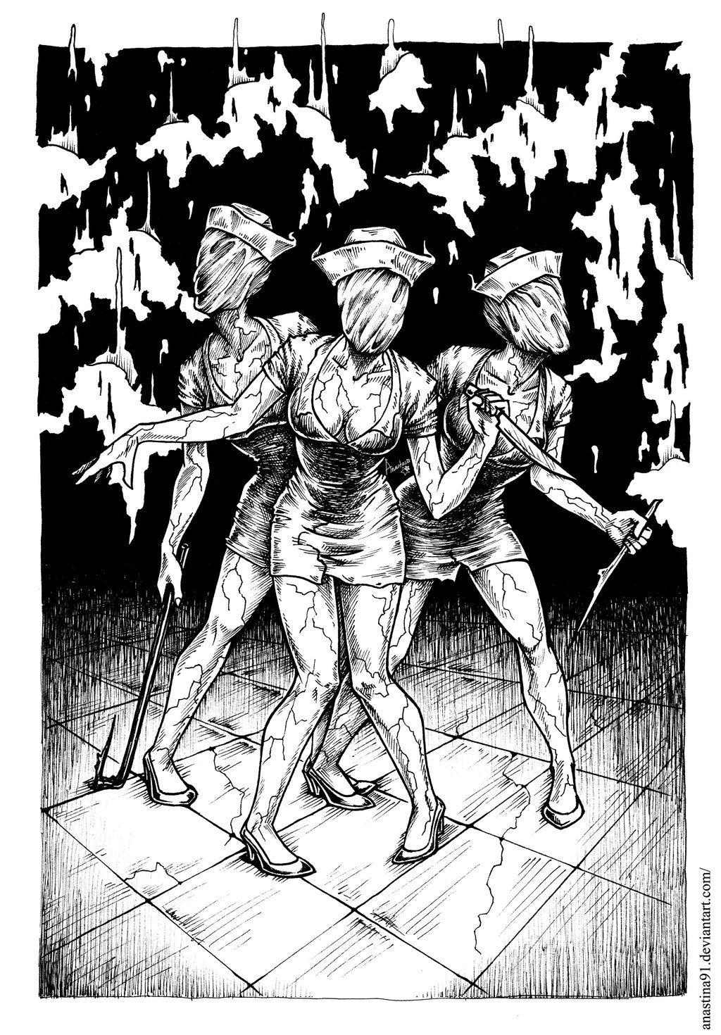 Silent Hill Nurses by Anastina91