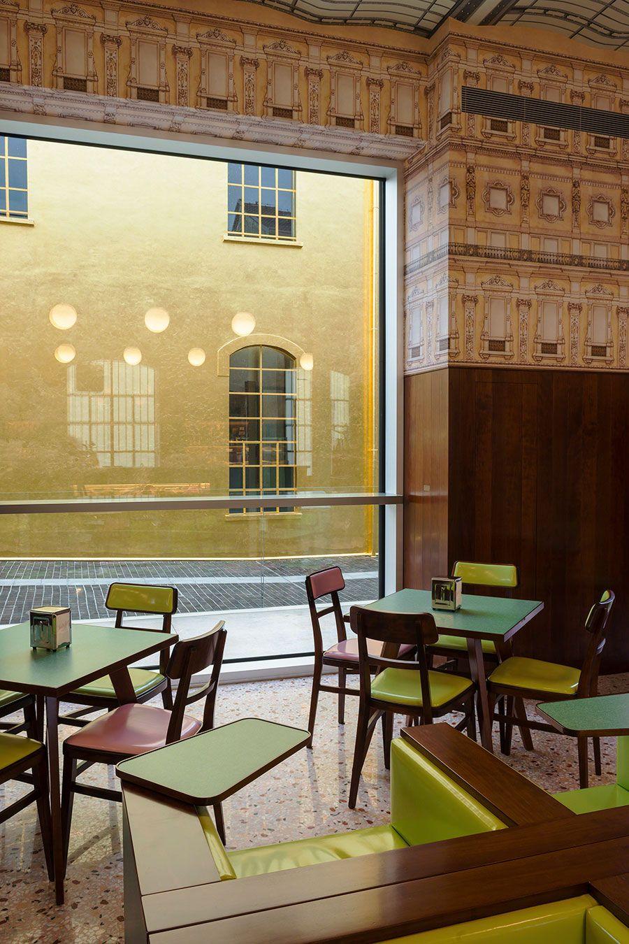 Bar LuceDesigned by Wes AndersonFondazione Prada Milano2015Photo Attilio MaranzanoCourtesy Fondazione Prada.