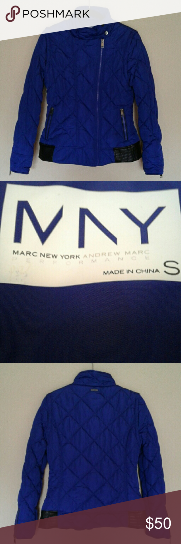 """MARC NEW YORK ANDREW MARC, VEST/JACKET MARC NEW YORK ANDREW MARC, VEST/JACKET.  Sleeves can be Removed to Make it a Vest.  2  5-1/2"""" Zippers at the Cuffs.   100% Polyester.  Great Jacket!! Excellent Condition MARC NEW YORK ANDREW MARC Jackets & Coats"""
