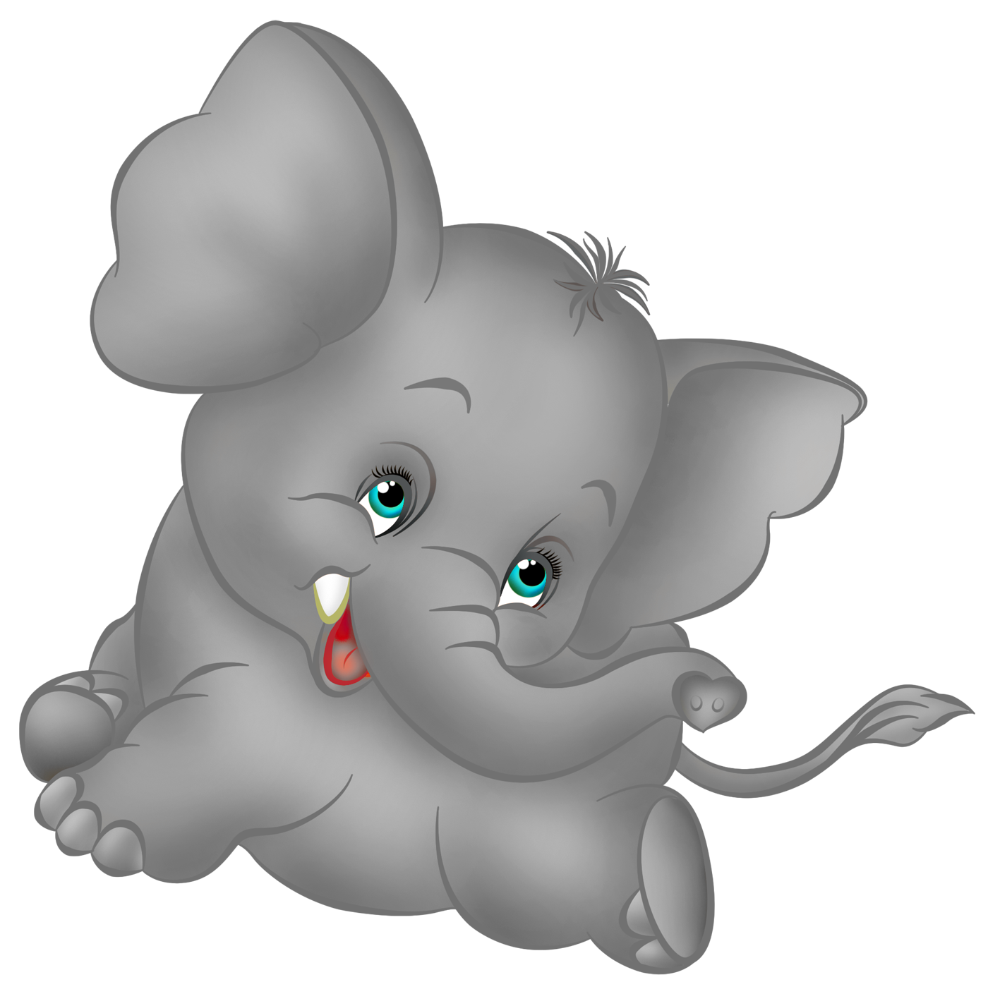 Grey Elephant Cartoon Free Clipart | Elephants Roll Tide Big All And ...
