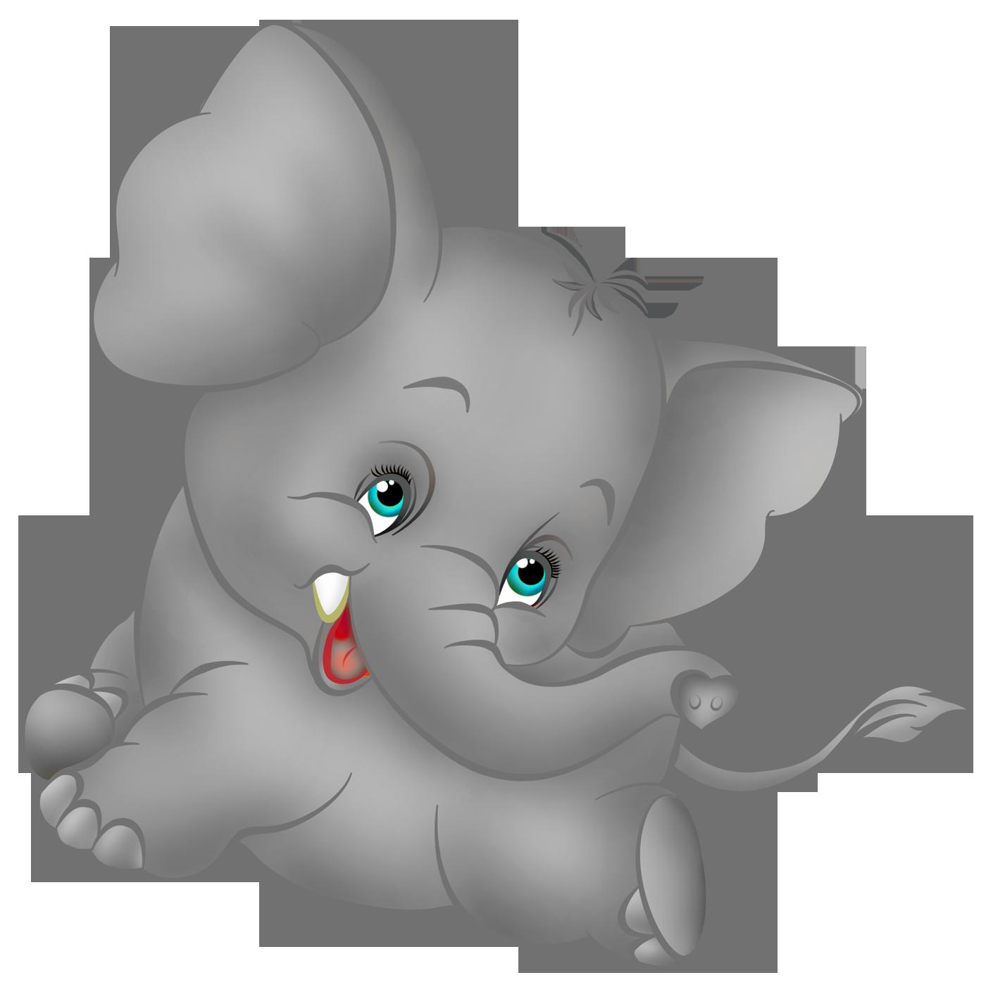 Baby Elephant's Cute - Elephant Cartoon Clip Art | drawing ...