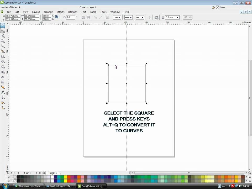 "01-COREL DRAW TUTORIAL FOR BEGINNERS. ""HOW TO DRAW A PERFECT TRIANGLE"""