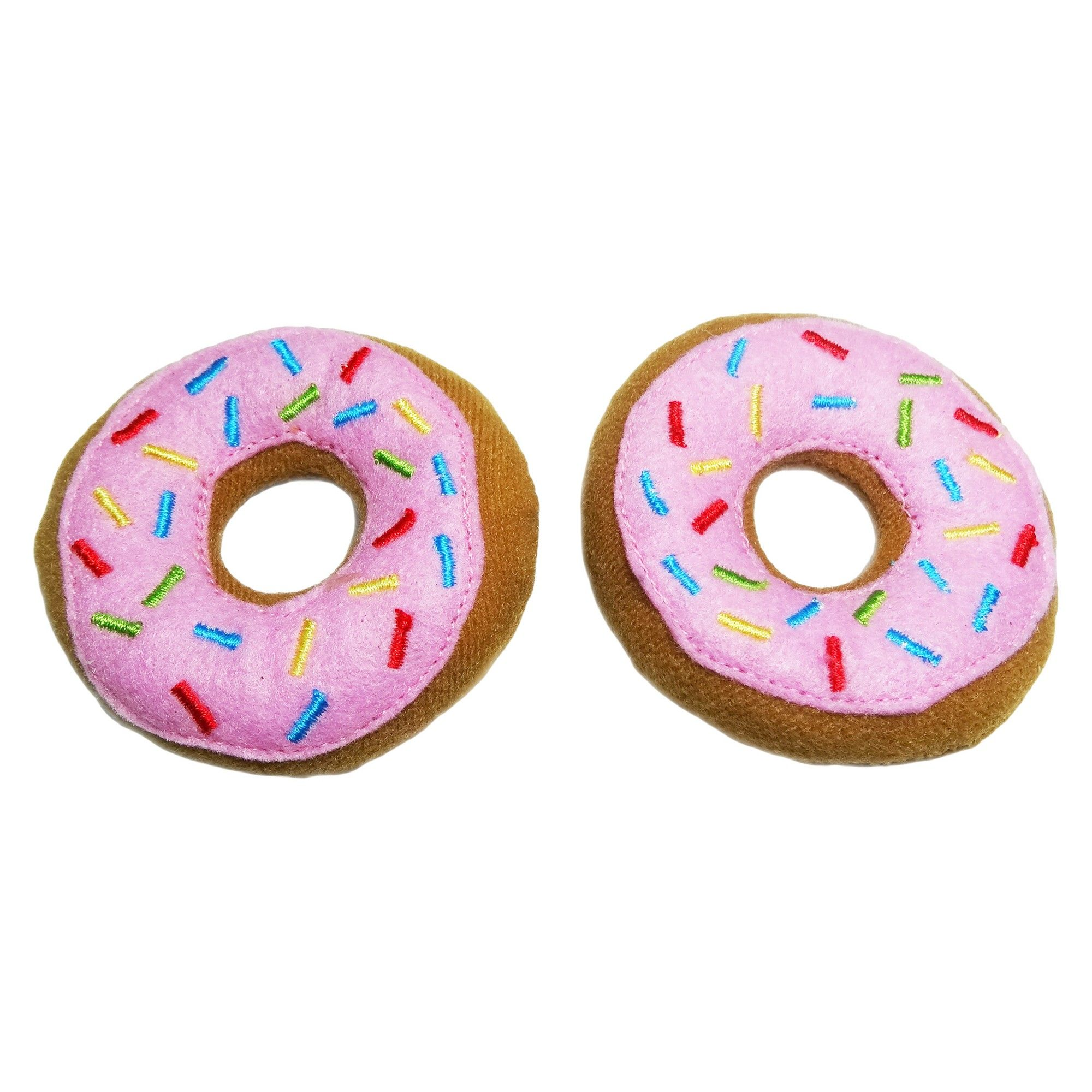 Donuts Pet Toy Set 2pk Boots Barkley Pink Brown Pet Toys