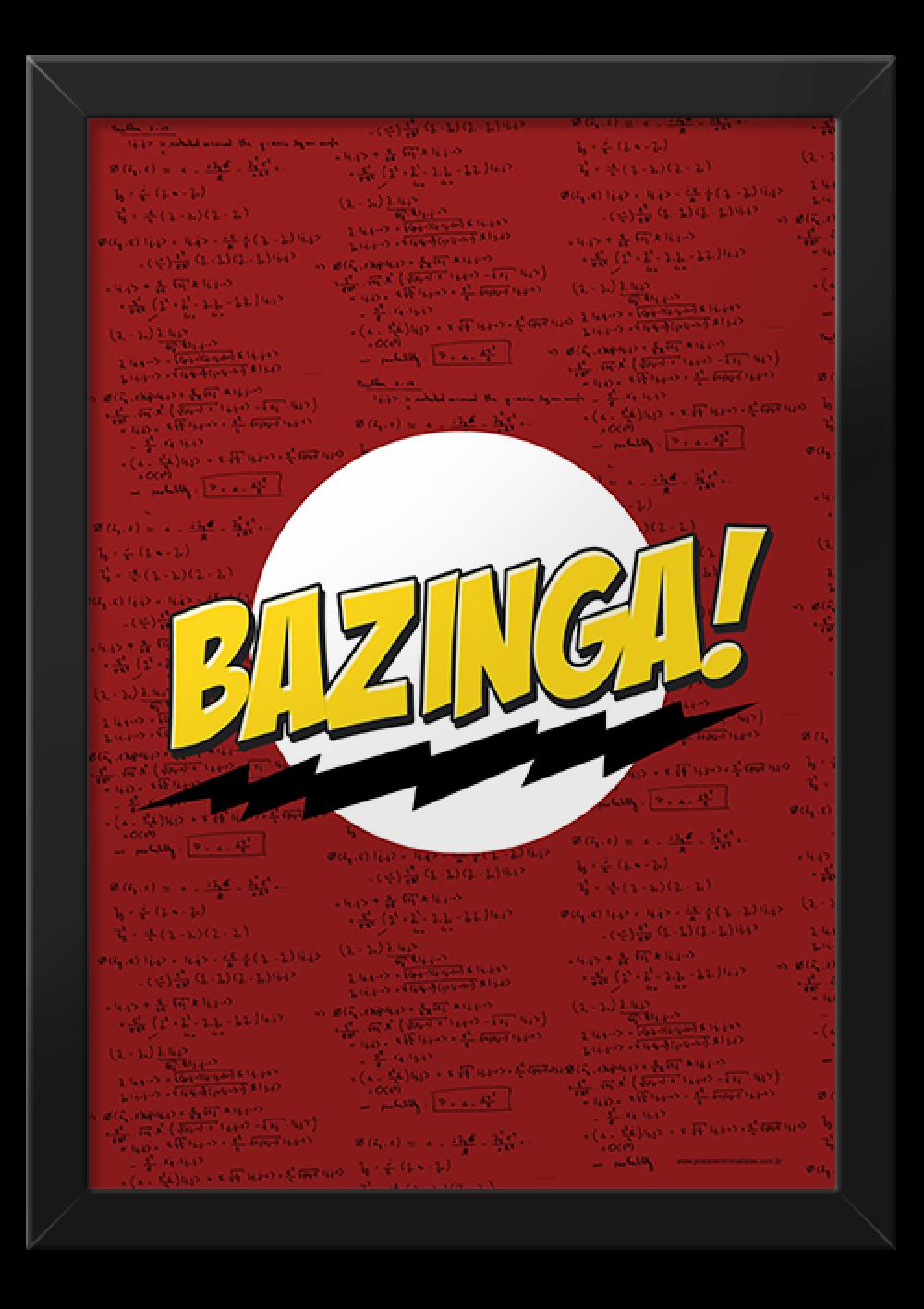 Bazinga! - Séries   Posters Minimalistas
