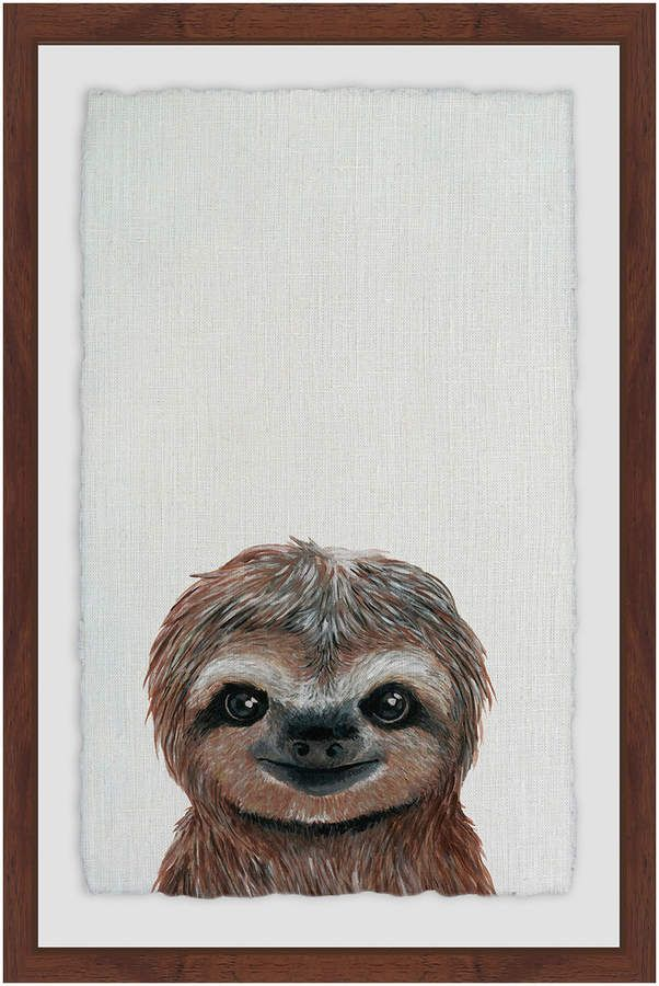 fa310d406 Marmont Hill Cheerful Sloth (Framed Giclee) | Sloths | Sloth drawing ...