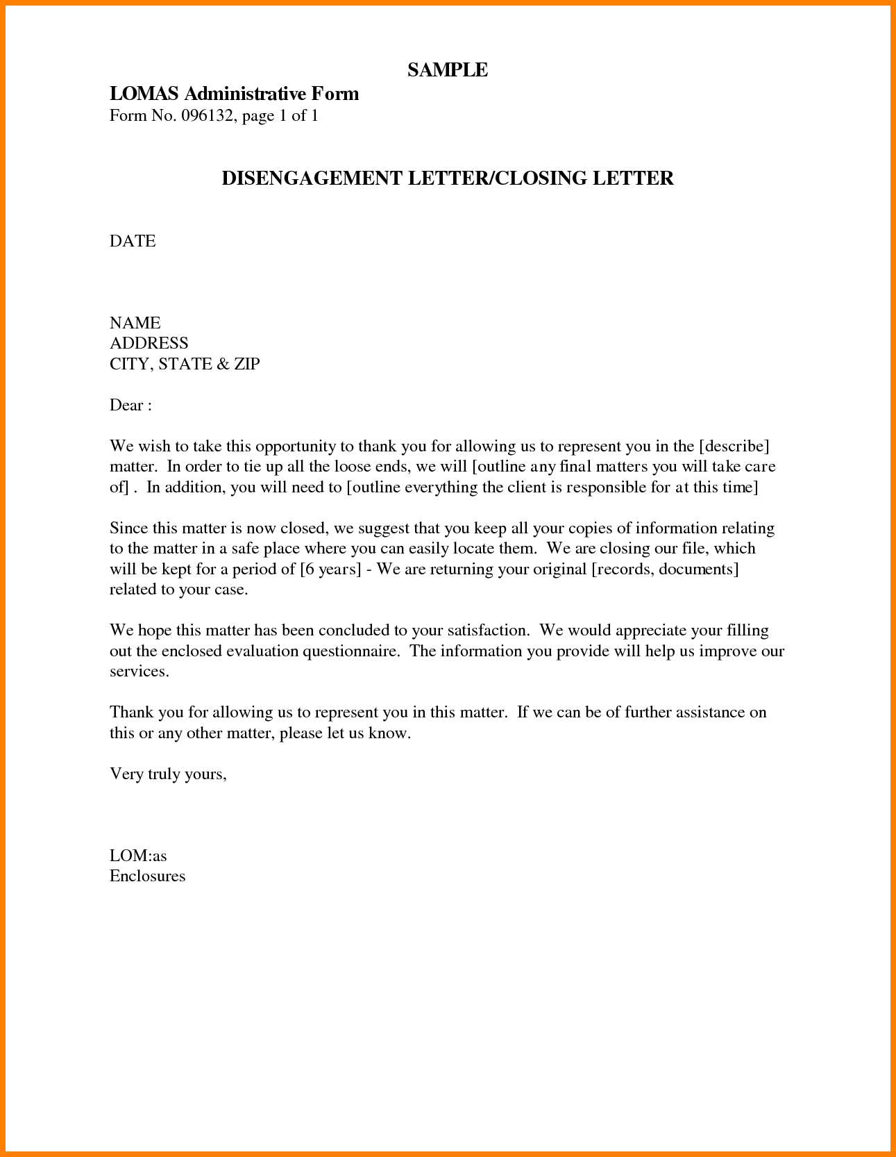 Listing of Business-Letter Closings