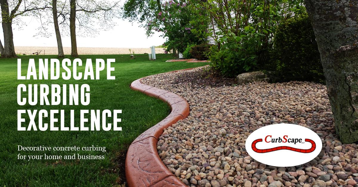 Curbscape Installs Decorative Landscape Concrete Curbing An Effective Method Of Reducing Landscape Ma Landscape Curbing Concrete Curbing Landscape Maintenance