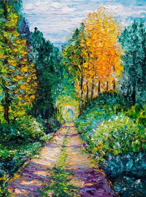 Tribute to Monet ~ Wooded Path by Kimberly Adams