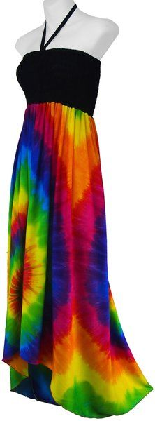 4a4609cacab Asymmetrical Spiral Tie Dye Sundress