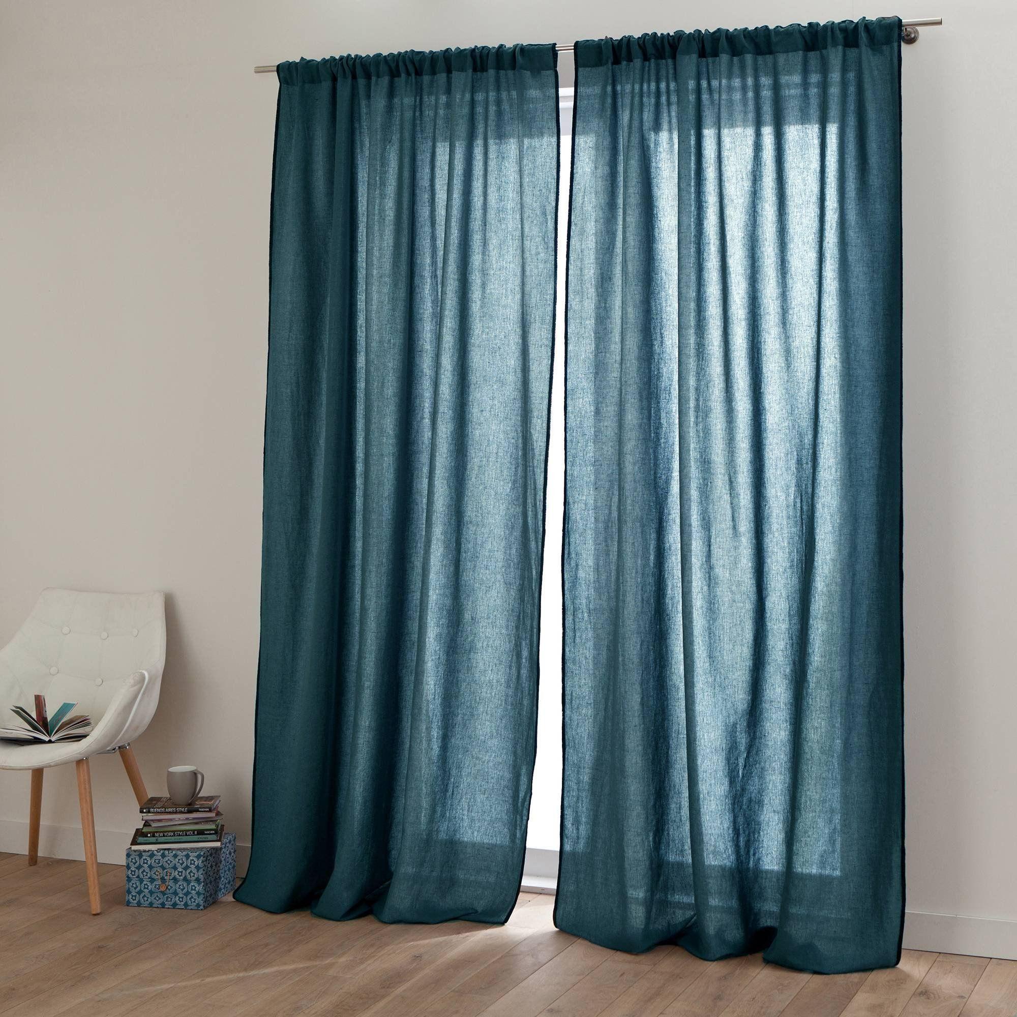 rideau lin lav stone wash et coton zilia harmony appt mc bidart pinterest rideau lin lav. Black Bedroom Furniture Sets. Home Design Ideas