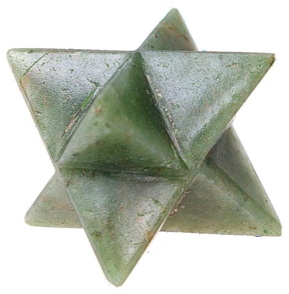 Etoile de Merkaba en aventurine, pierre semi précieuse verte  Merkaba star in green aventurine, natural semi precious stone