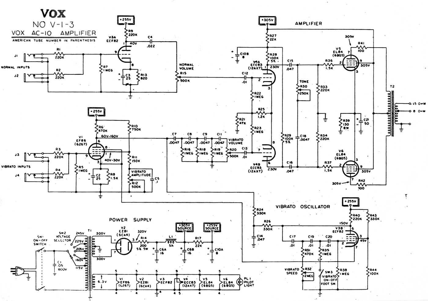 Vox Ac 10 With Pentode Triode Oscillator