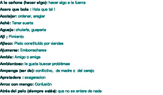 Vocabulario Cubano Vocabulario De Cuba Hablar Cubano