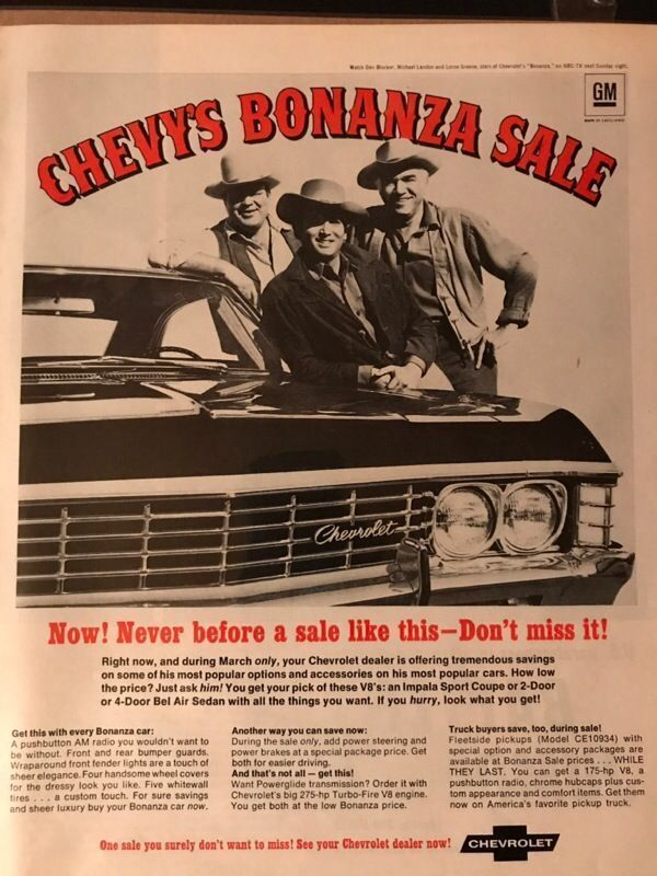 Vintage Chevy Bonanza Sale Ad For Sale In Libertyville Il