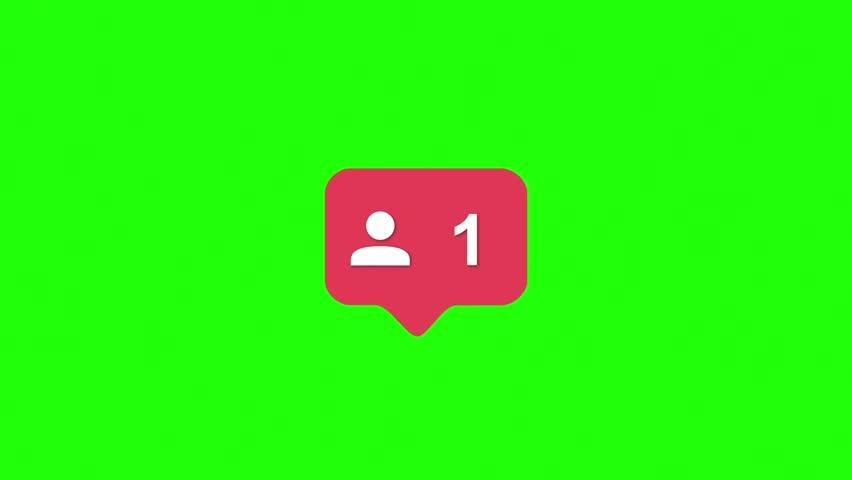 Instagram Red Icon Followers Counter Stock Footage Video