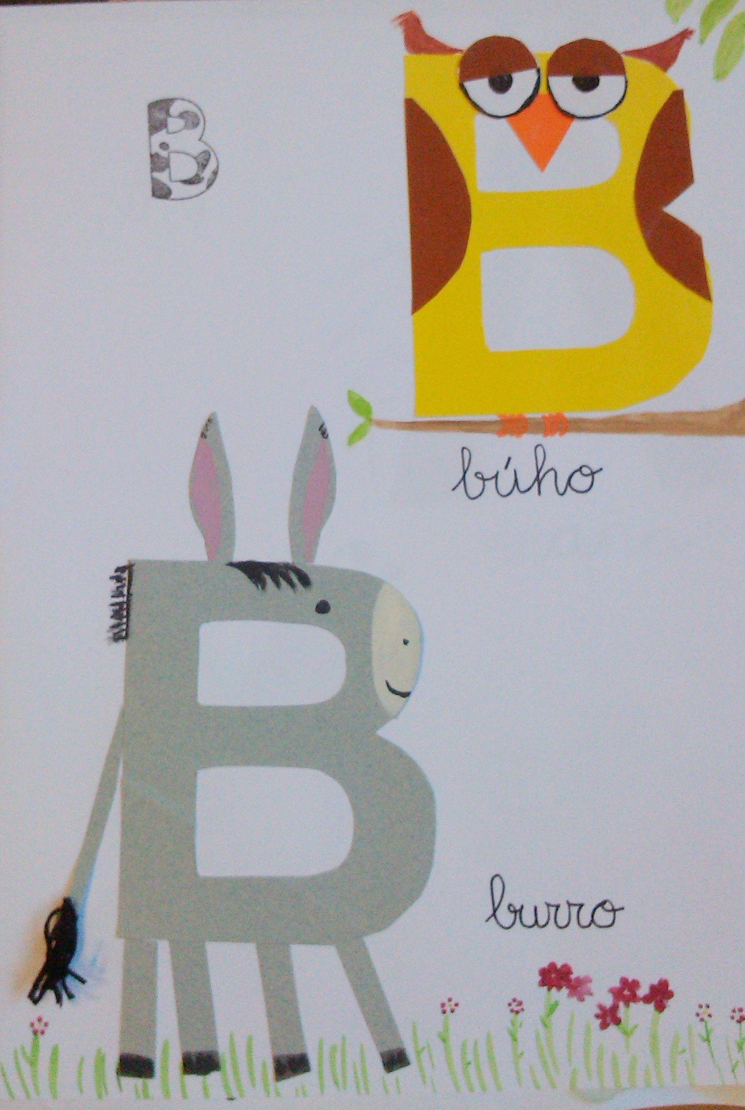 animalario letra b abecedario spanish alphabet letter a crafts preschool letters. Black Bedroom Furniture Sets. Home Design Ideas